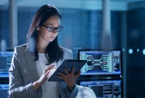 Woman in cyber security