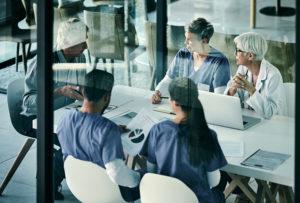 Modern team meeting